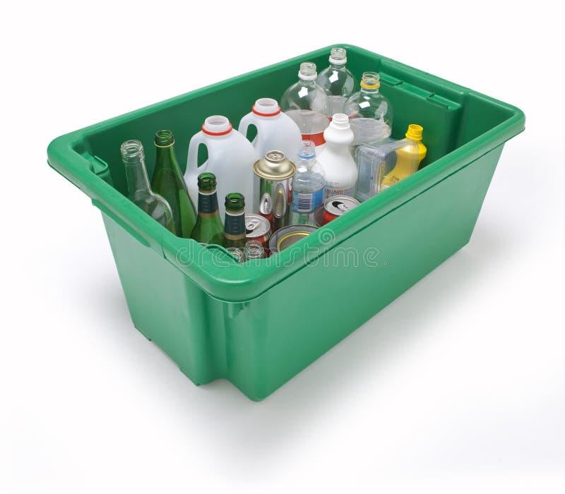 Glasplastikmetallwiederverwertung lizenzfreie stockfotos