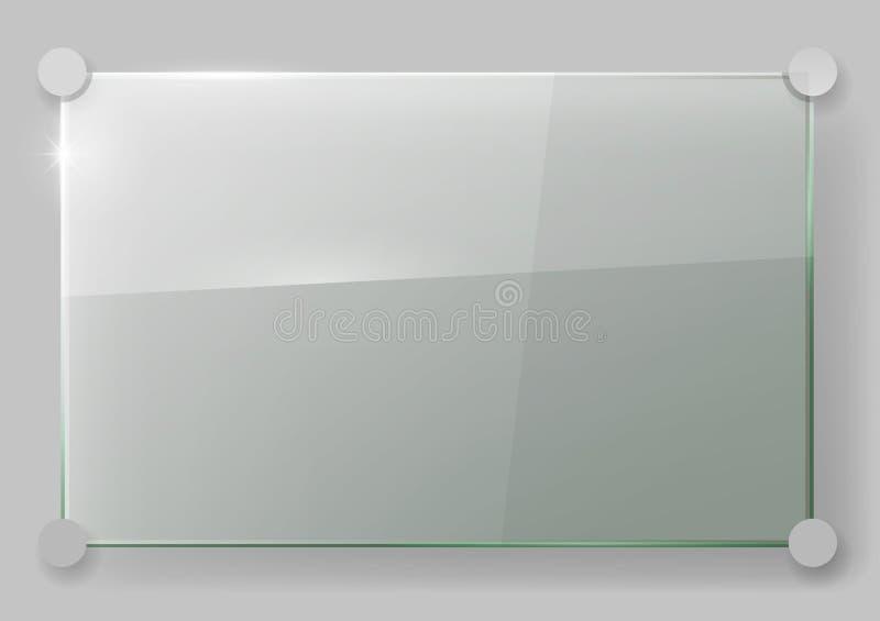 Glasplatte auf der Wand stockbild