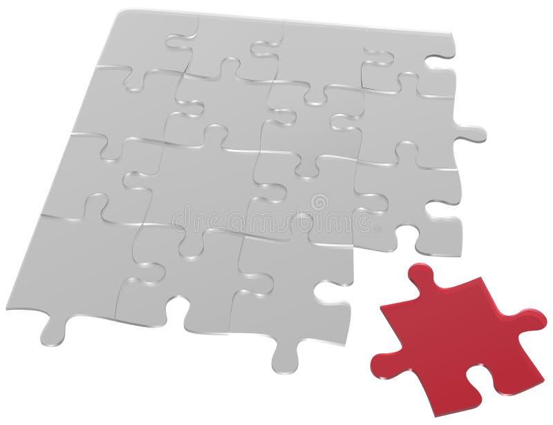 Glaspuzzlespiel stock abbildung
