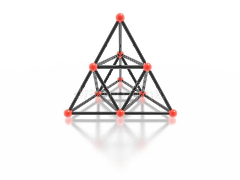 Glaspyramide stock abbildung