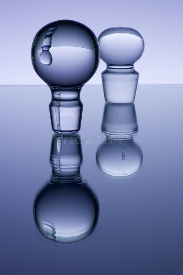 Glasreflexionen stockfoto