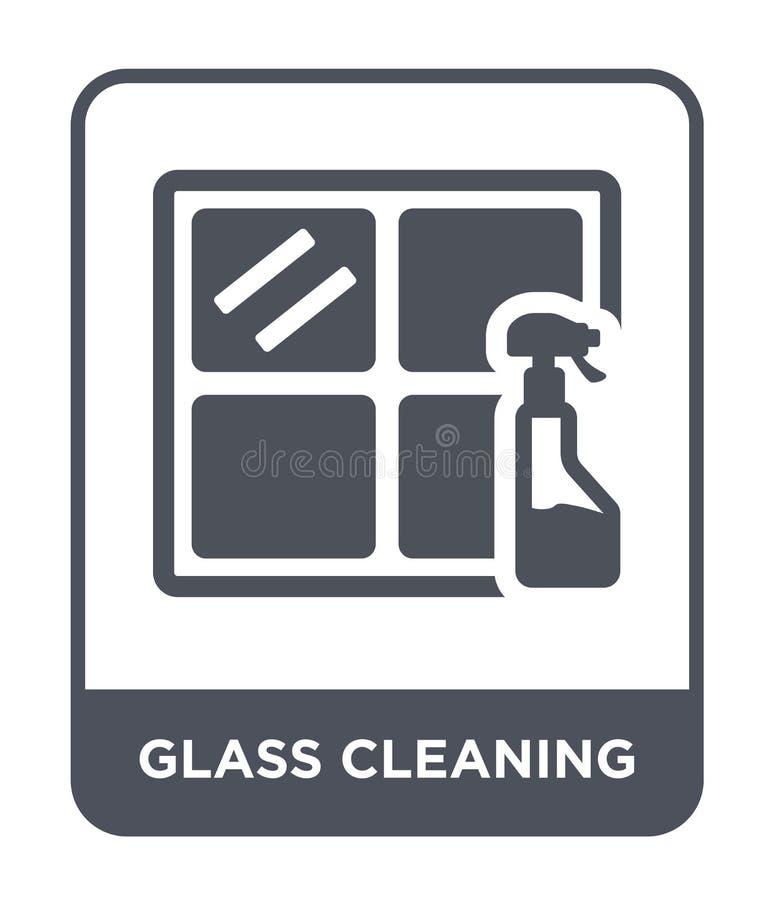 Glasreinigungsikone in der modischen Entwurfsart Glasreinigungsikone lokalisiert auf weißem Hintergrund Glasreinigungsvektorikone lizenzfreie abbildung