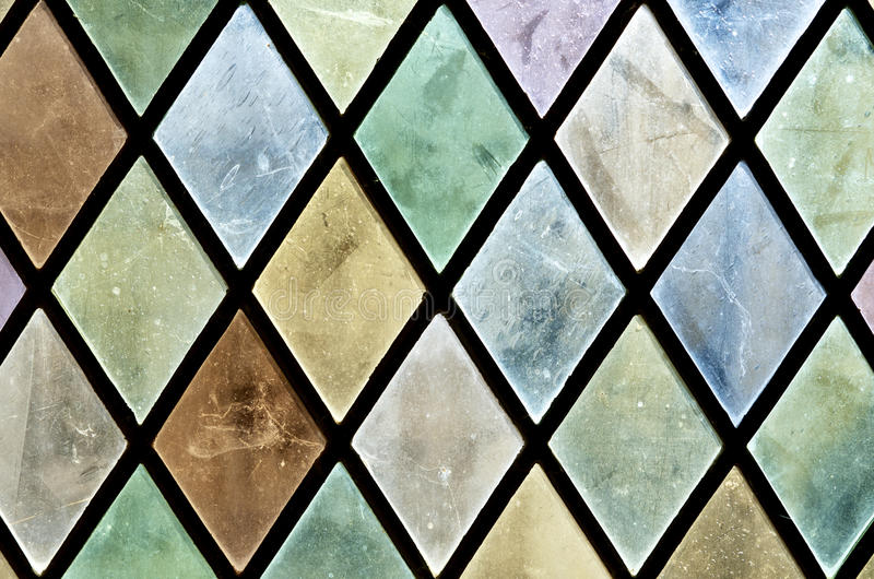 Glass. Closeup of a colored glass in the castle of Chaumont Sur Loire, Loire Valley, France royalty free stock images
