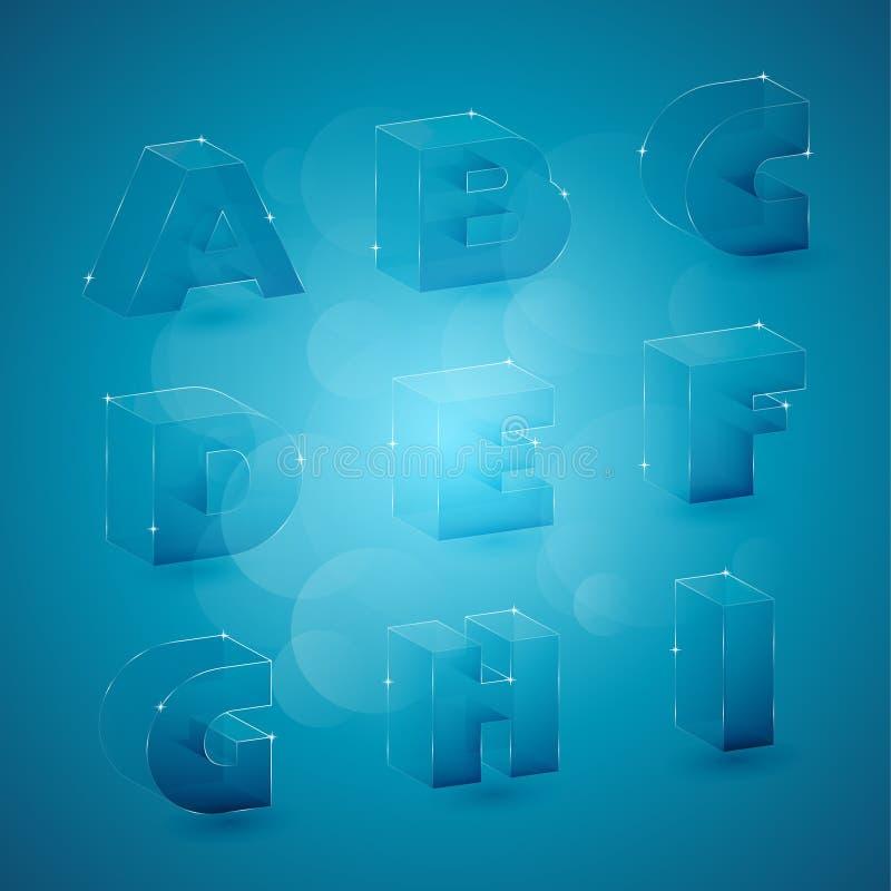 Glass 3d letters