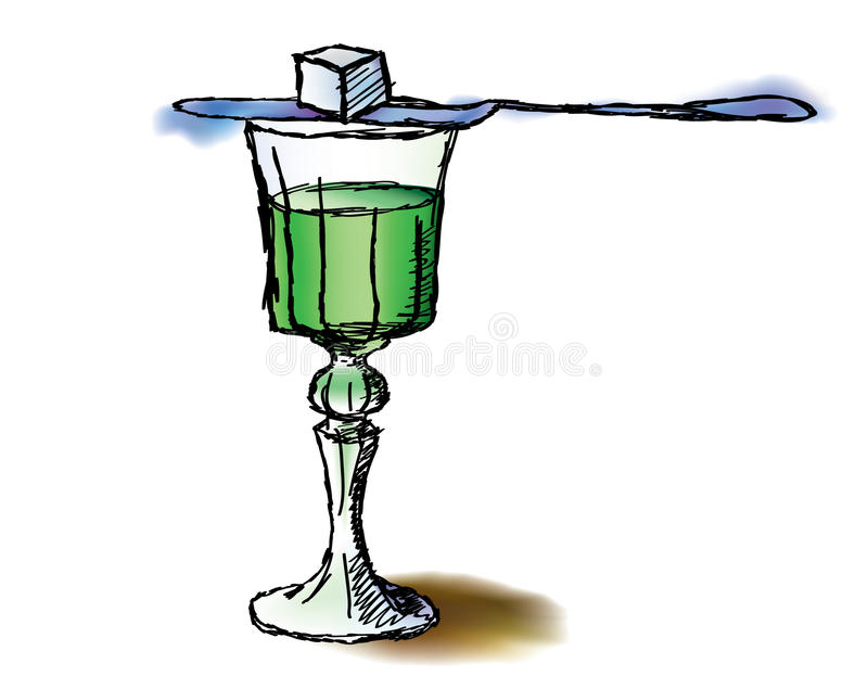 Download Glass of absinthe stock vector. Image of magic, bottle - 29004888
