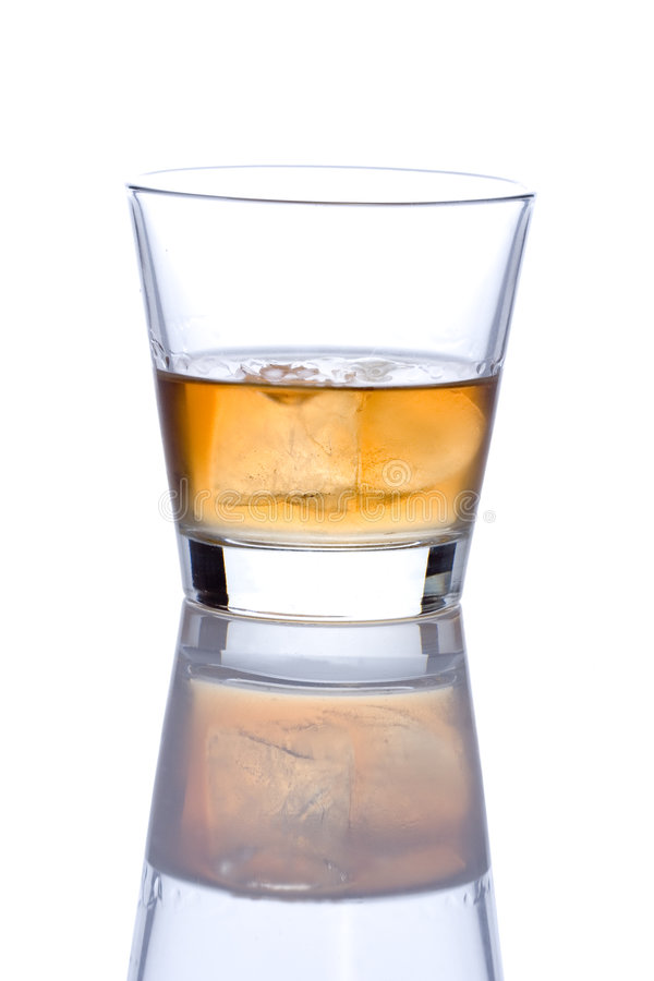 Glass of alcohol stock photography