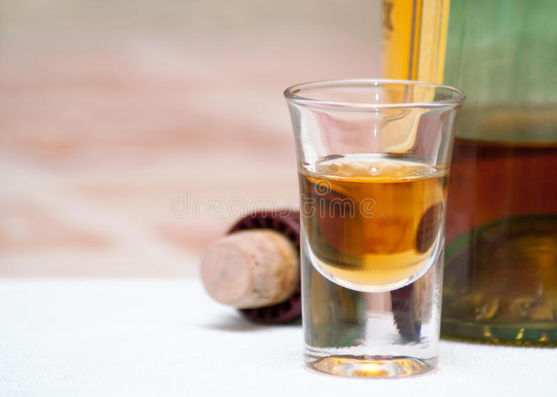 Download Glass of alcohol. stock photo. Image of cork, alcoholic - 24769760