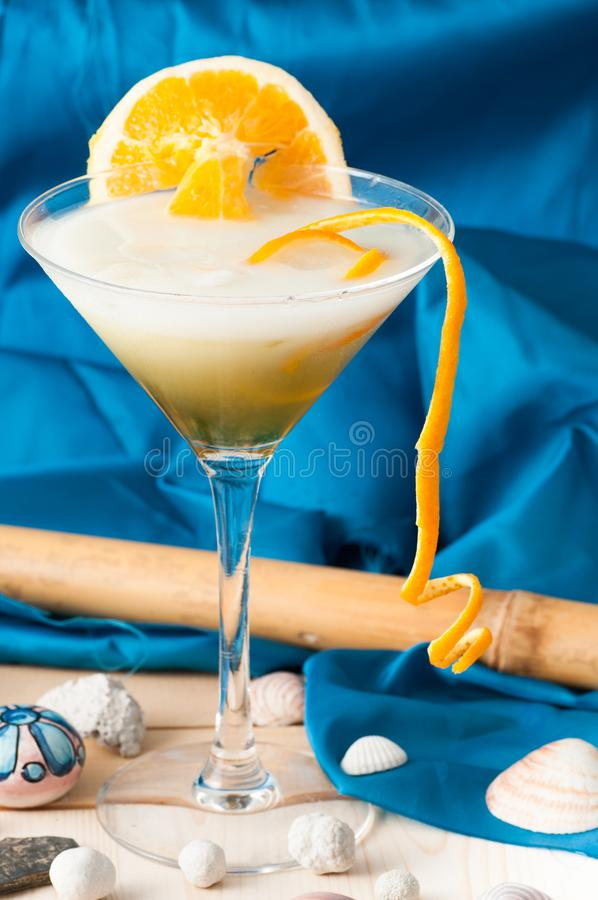 Glass of alcoholic drink cocktail stock photography