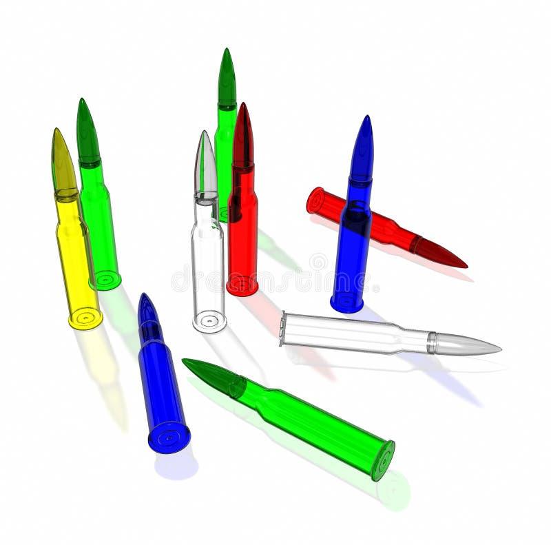 Glass ammunition stock photo