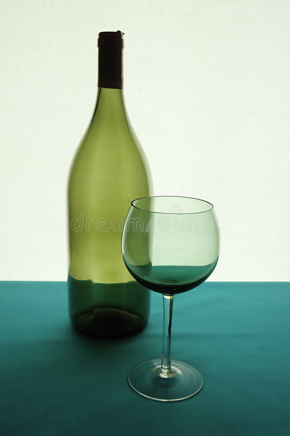 Free Glass And Bottle Of Wine Stock Image - 2208631