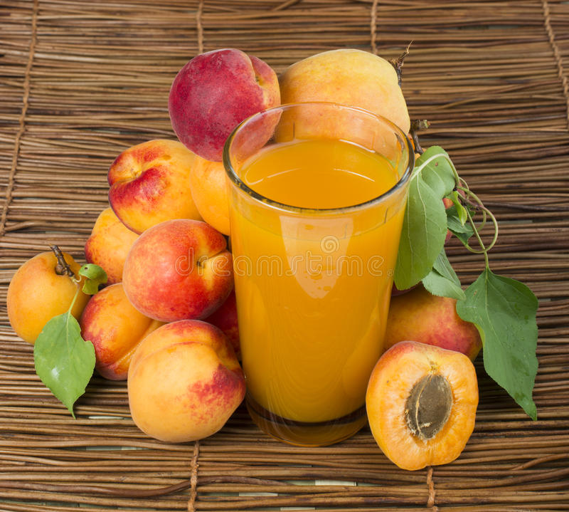 Download Glass apricot juice. stock image. Image of dessert, drink - 33628971