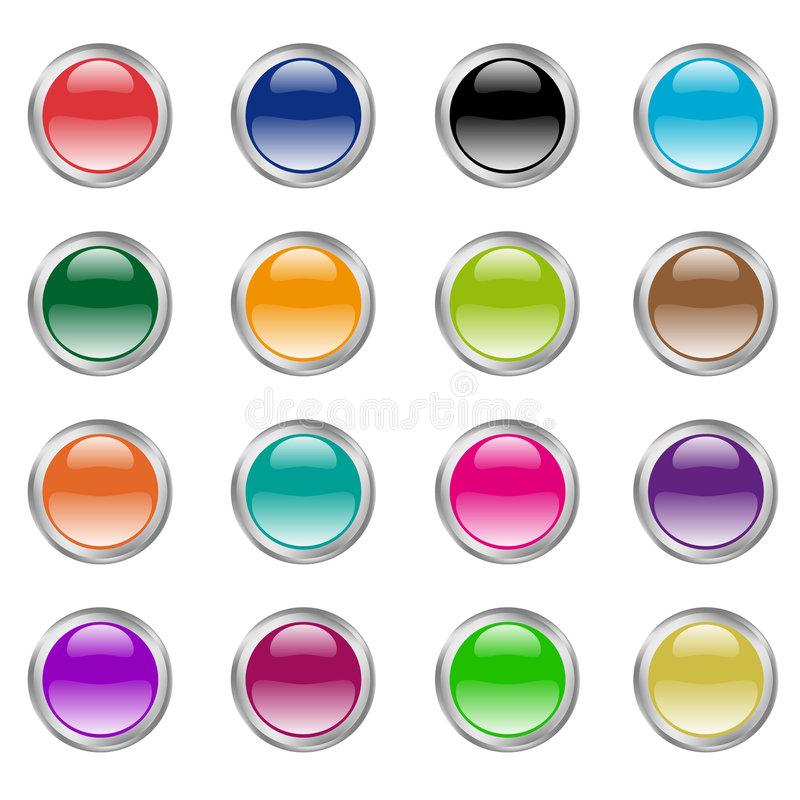 Glass/Aqua style web buttons stock illustration