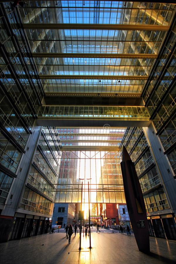 Modern glass architecture in the hague. A modern glass achitecture building in Den Haag (The Hague, Netherlands stock image