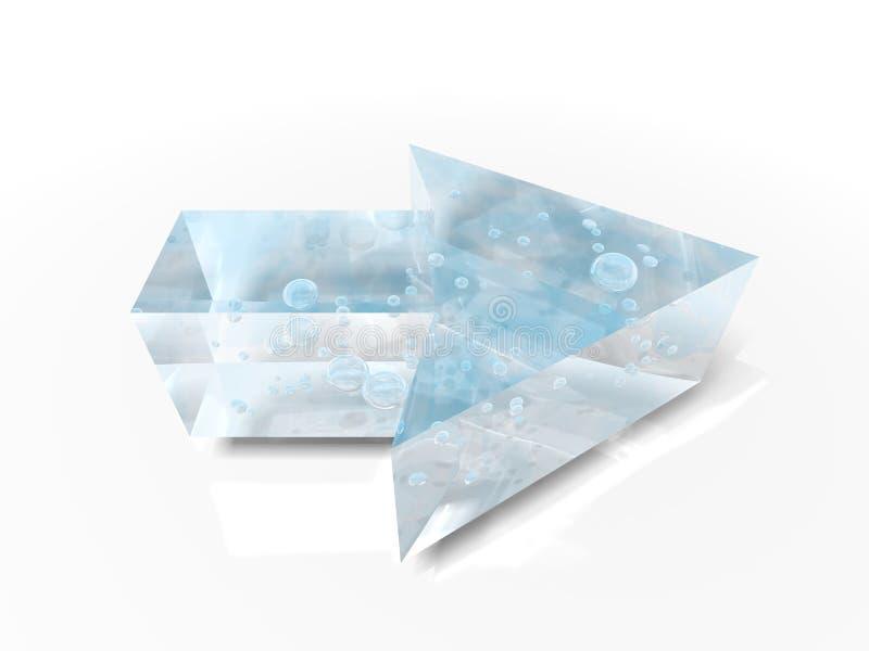 Download Glass arrow stock illustration. Illustration of dimensional - 4706353