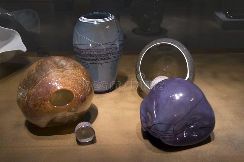 Glass art in Seattle Art Museum stock photos