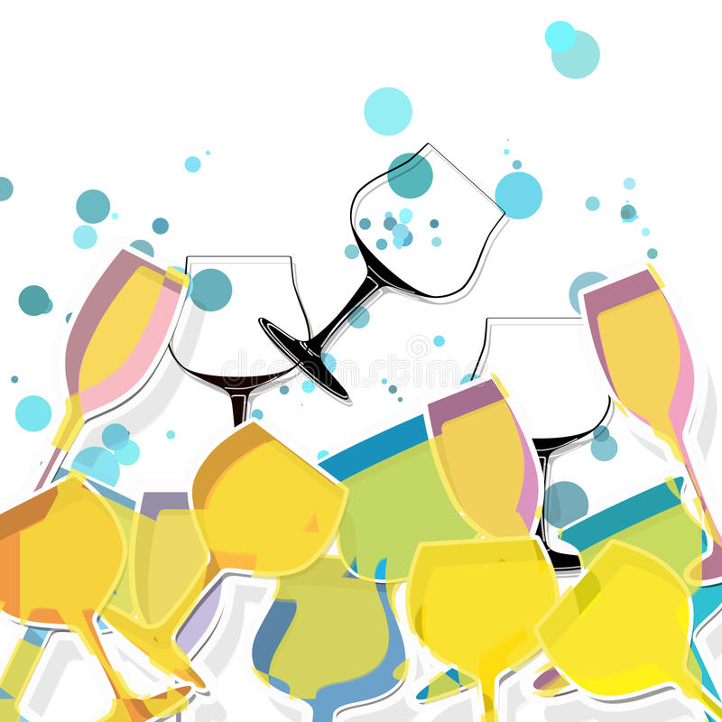 Glass stock illustration