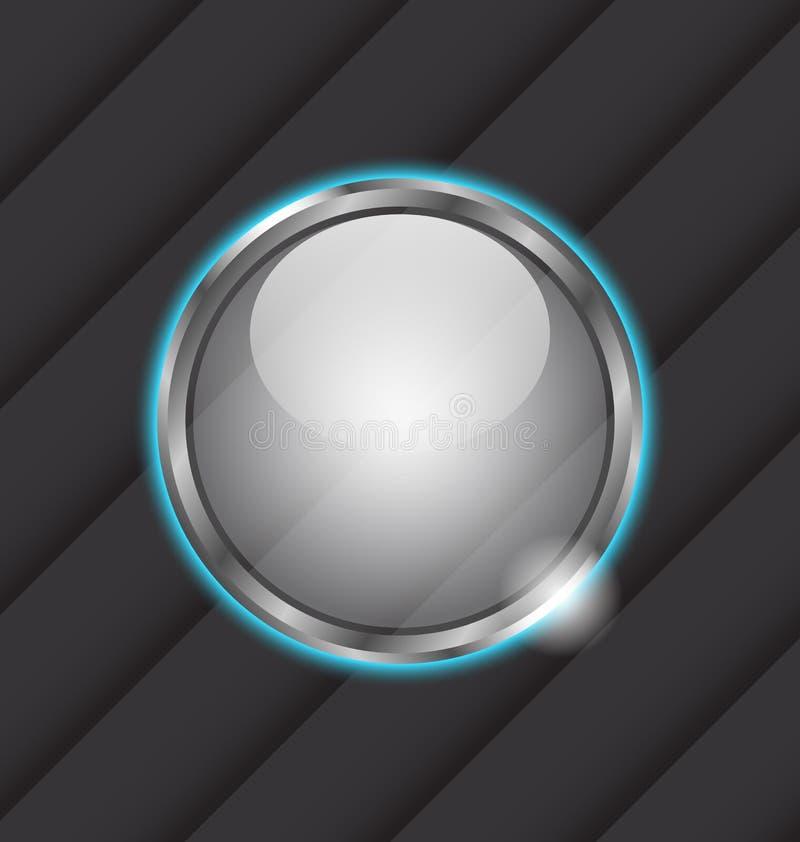 Glass ball as speech bubble vector illustration