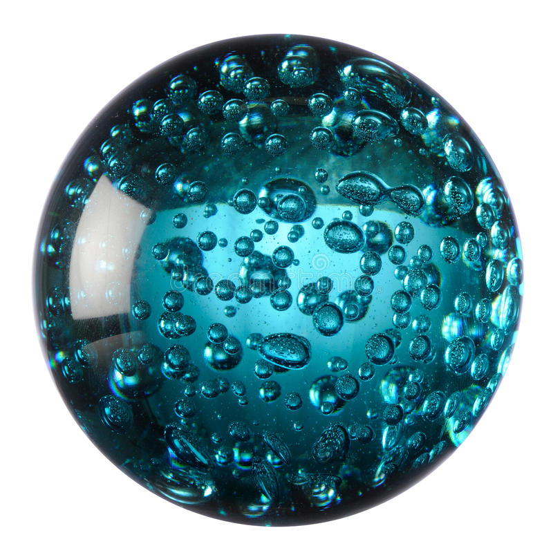 Download Glass ball of blue water stock photo. Image of decorative - 18255344