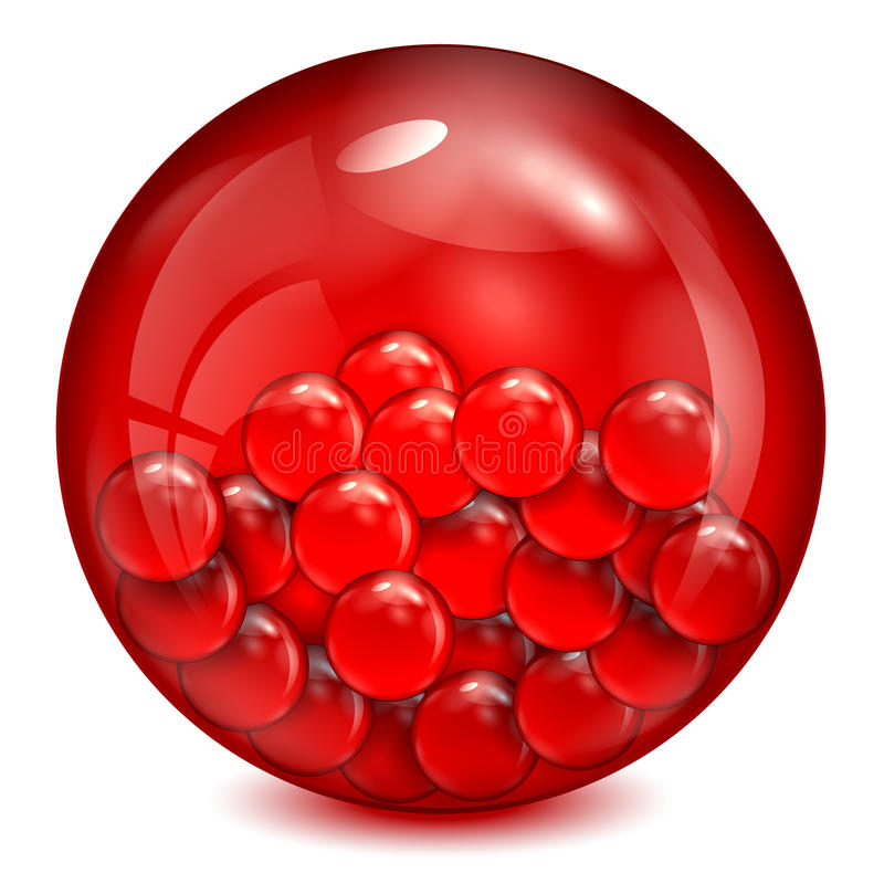 Free Glass Ball Of Red Color Royalty Free Stock Images - 31381669