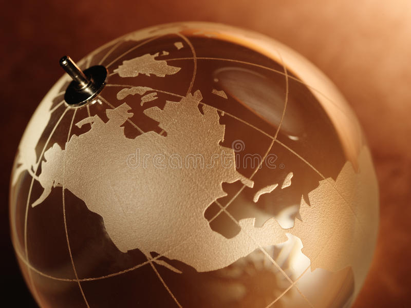 Glass ball with a picture of a world map on vintage paper stock download glass ball with a picture of a world map on vintage paper stock photo gumiabroncs Images