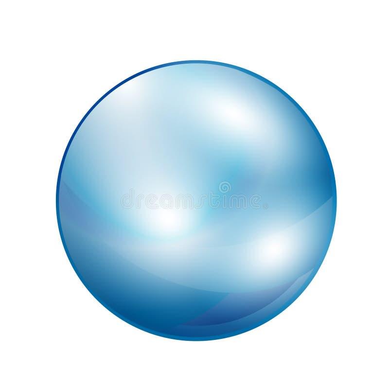 Glass ball sphere isolated on white. Vector Illustration vector illustration