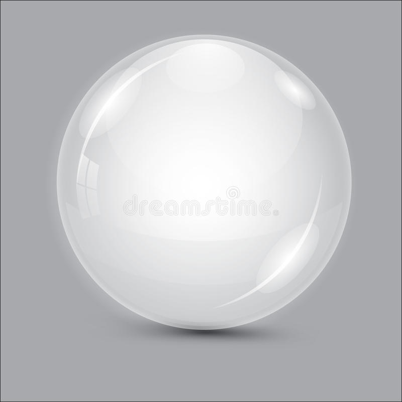 Download Glass Ball. Transparent Ball. Stock Vector - Image: 83715695
