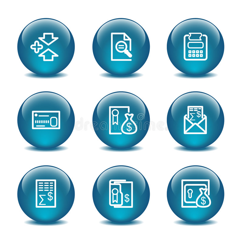 Download Glass Ball Web Icons, Set 14 Royalty Free Stock Photography - Image: 6151837