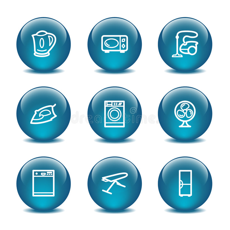 Download Glass Ball Web Icons, Set 18 Stock Vector - Image: 6151933