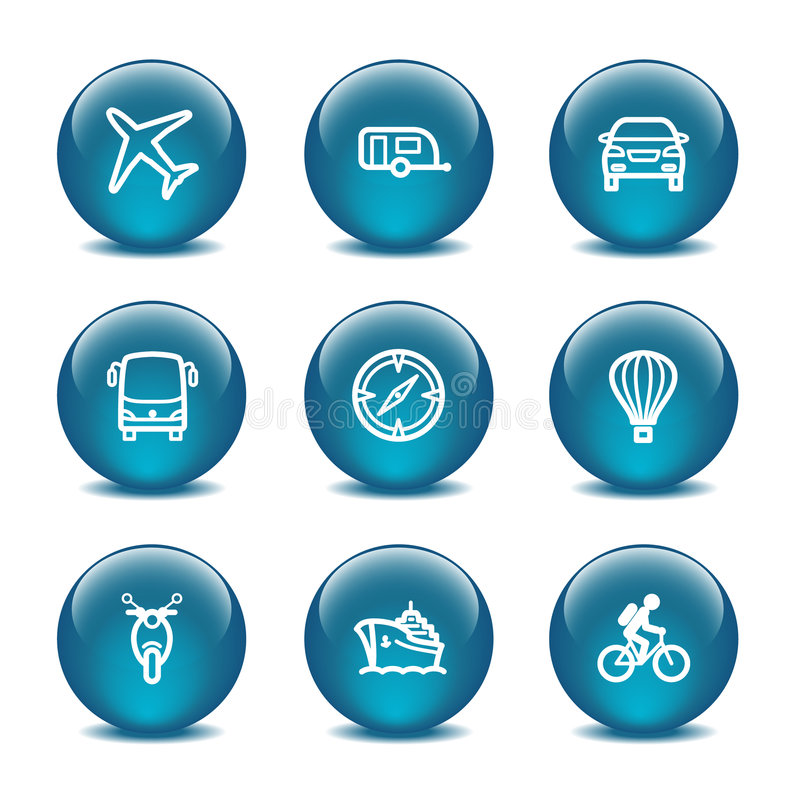 Download Glass Ball Web Icons, Set 20 Stock Vector - Illustration of motorcycle, glass: 6152024