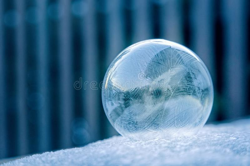 Glass Ball on White Surface stock photography