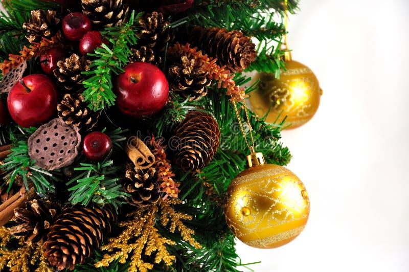Glass balls hanging on the Christmas tree royalty free stock photo