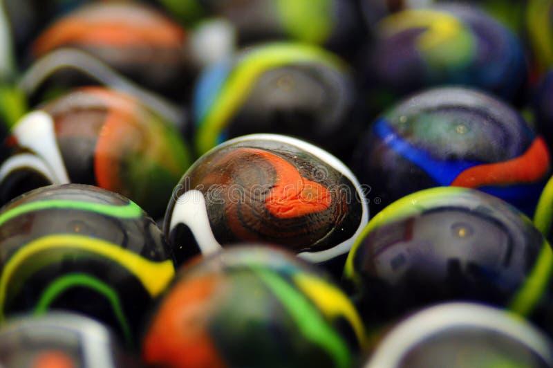 Glass balls macro stock images