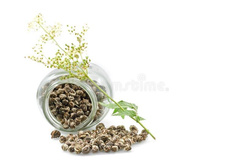 Glass bank. And herbal tea royalty free stock photos