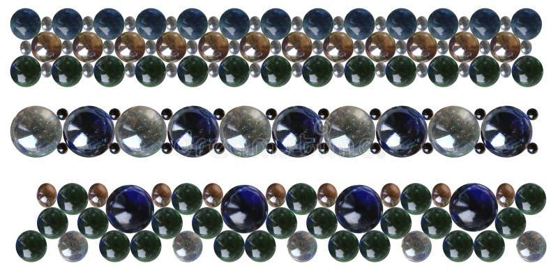 Glass beads bracelets stock photos