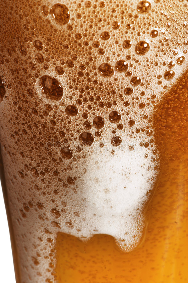 Glass of beer. With foam stock photography