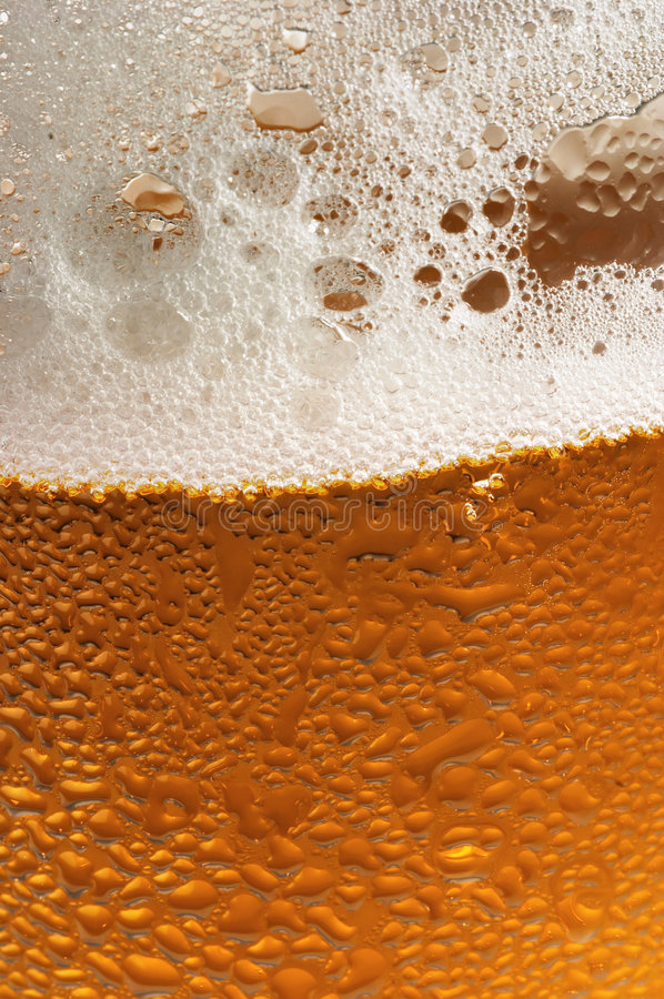 Glass of beer. With water drops, close-up stock photography
