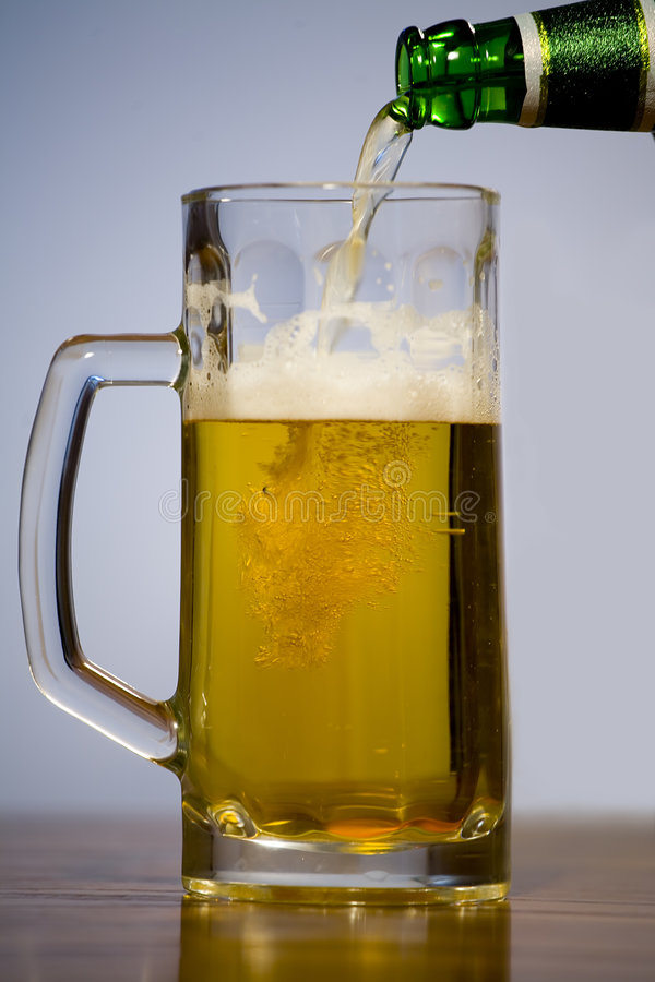 Download Glass of beer stock image. Image of flow, brewed, glass - 2313881