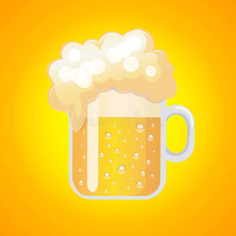 Download Glass of beer stock vector. Illustration of yellow, alcohol - 6923920