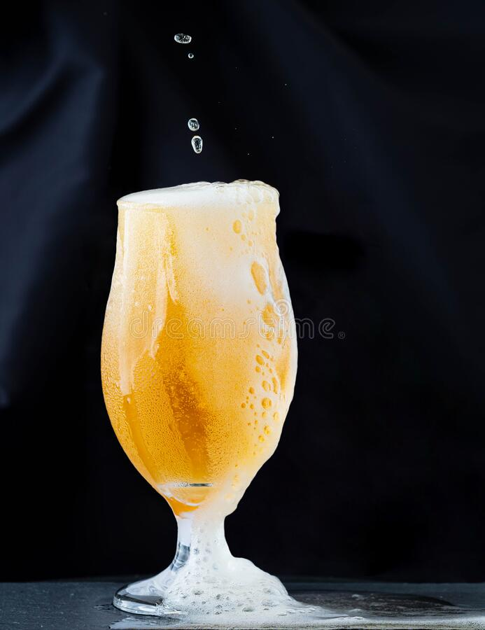 Glass of beer. Alcohol, close. royalty free stock image