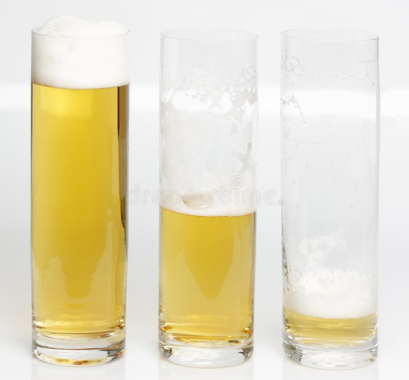 Download A Glass Of Beer Becoming Empty Stock Photo - Image of purity, drinking: 14217830
