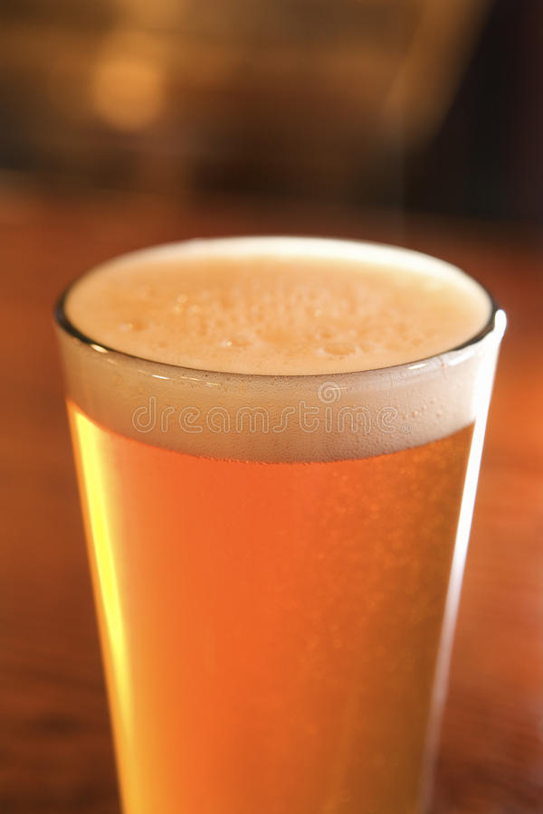 Glass of Beer With Foam royalty free stock photo