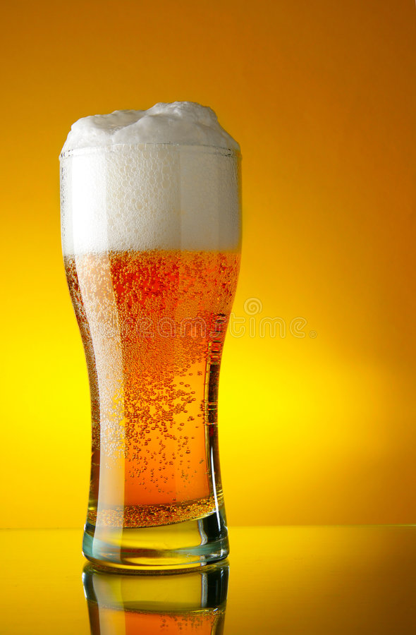 Download Glass of beer with froth stock photo. Image of beer, lager - 4305366