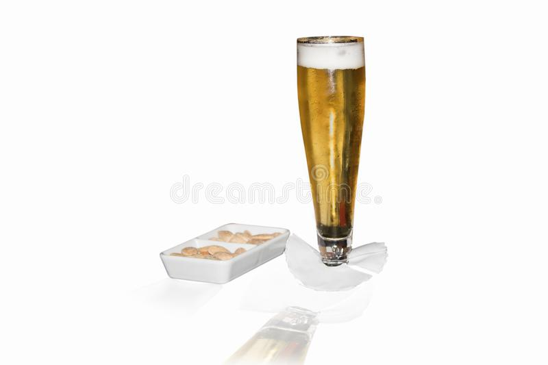 A glass of beer. stock images