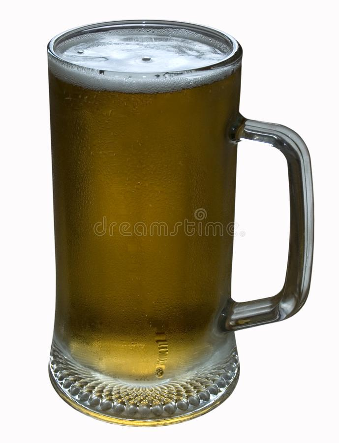 A glass of light beer stock photos