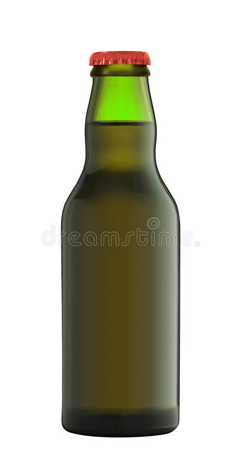 Glass of beer on white background. Glass of beer isolated on white background stock photography