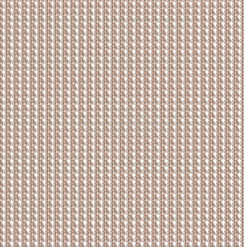 Glass beige beads seamless pattern. Panel of beads. Costume jewellery. Vintage style royalty free illustration