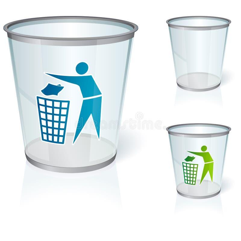 Glass bin stock illustration