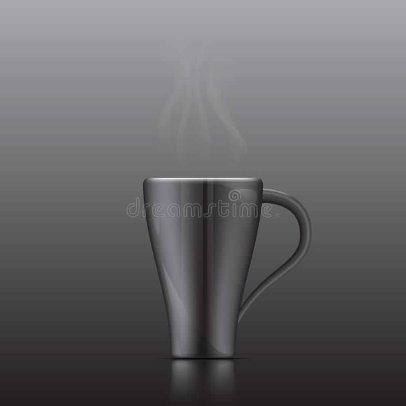 Glass black ceramic Vector. Is a general illustration stock illustration