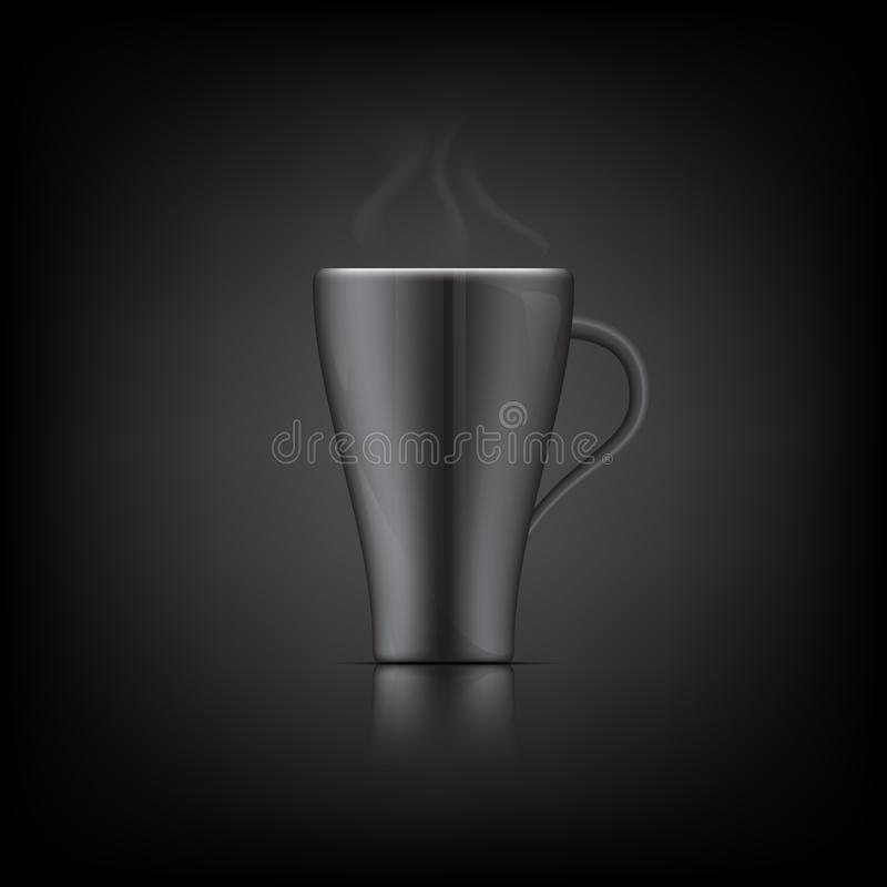 Glass black ceramic Vector. Is a general illustration royalty free illustration