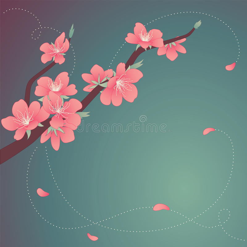 Download Glass blooming branch stock vector. Image of pastel, leaf - 23114935